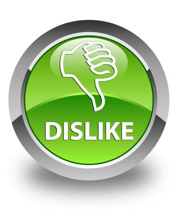 disapprove: Dislike glossy green round button