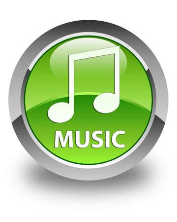 tune: Music (tune icon) glossy green round button