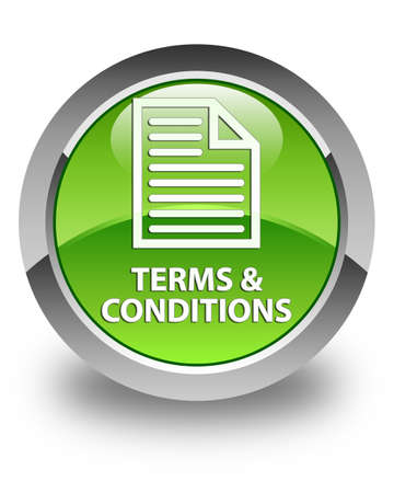 technology agreement: Terms and conditions (page icon) glossy green round button