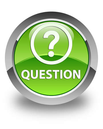 quest: Question glossy green round button