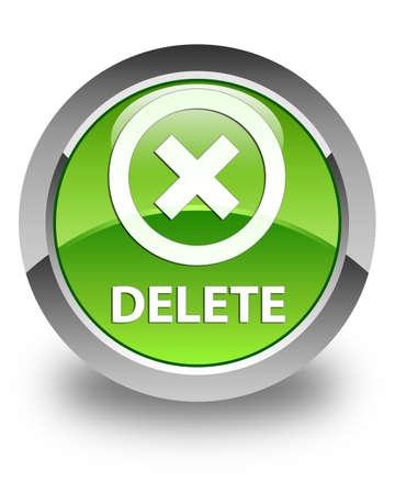 delete: Delete glossy green round button