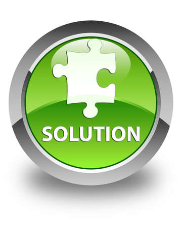 plugin: Solution (puzzle icon) glossy green round button