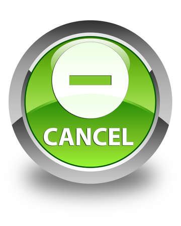 cancel: Cancel glossy green round button