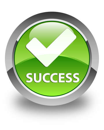 validate: Success (validate icon) glossy green round button