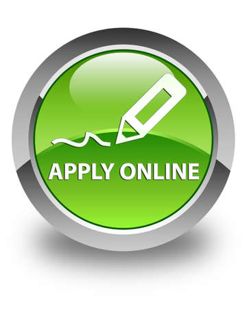 registry: Apply online (edit pen icon) glossy green round button