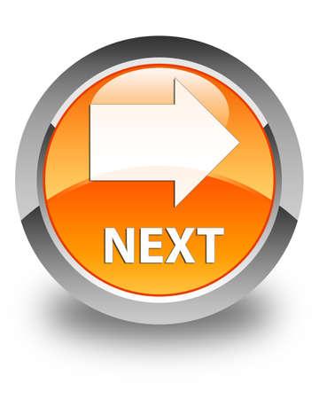 Next glossy orange round button