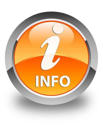 informing: Info glossy orange round button