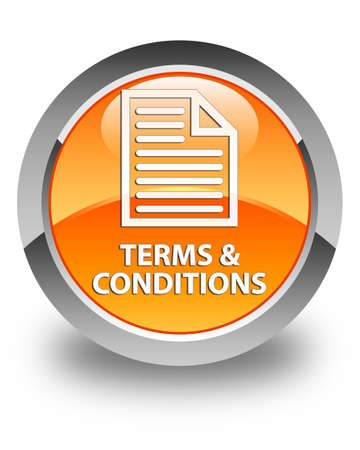 term and conditions: Terms and conditions (page icon) glossy orange round button