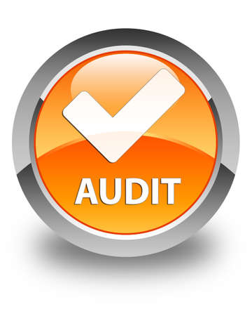 validate: Audit (validate icon) glossy orange round button