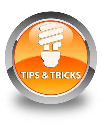 incandescence: Tips and tricks (bulb icon) glossy orange round button