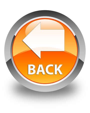 glossy: Back glossy orange round button