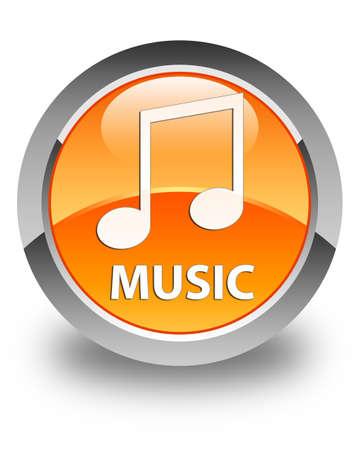 tune: Music (tune icon) glossy orange round button