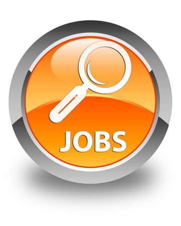 jobs: Jobs glossy orange round button