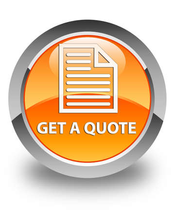 get: Get a quote (page icon) glossy orange round button