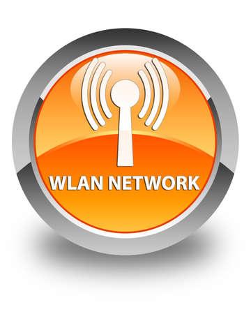 wlan: Wlan network glossy orange round button