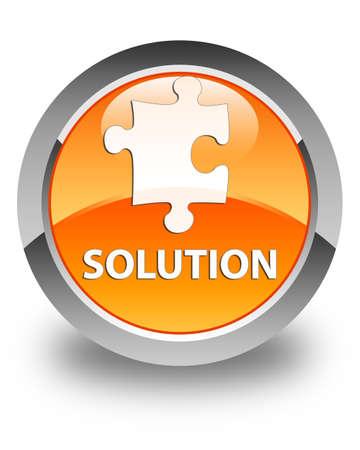 plugin: Solution (puzzle icon) glossy orange round button