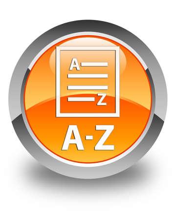 az: A-Z (list page icon) glossy orange round button