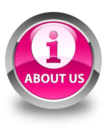 about us: About us glossy pink round button