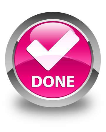 validate: Done (validate icon) glossy pink round button
