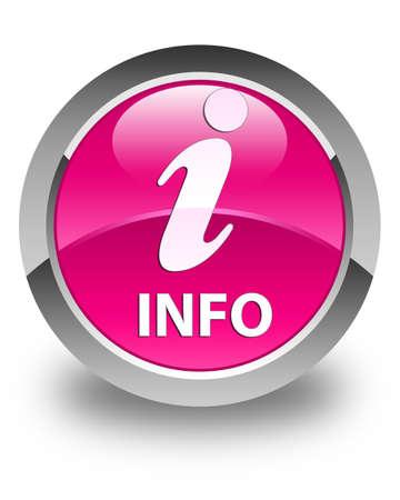inquiry: Info glossy pink round button