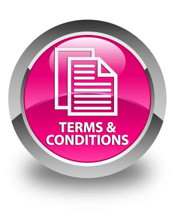 terms: Terms and conditions (pages icon) glossy pink round button