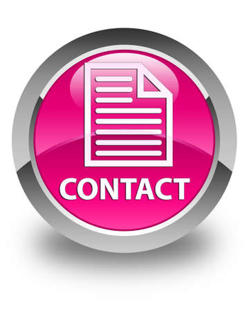 contact page: Contact (page icon) glossy pink round button