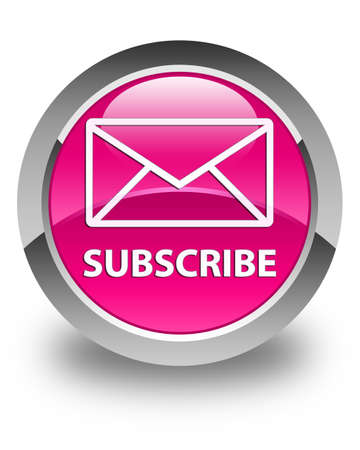 subscribe: Subscribe (email icon) glossy pink round button