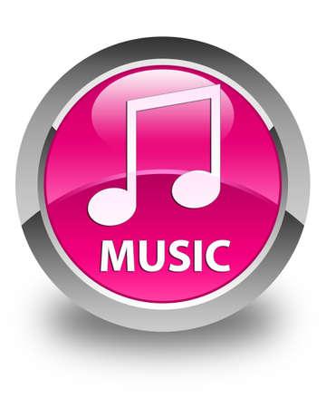 tune: Music (tune icon) glossy pink round button