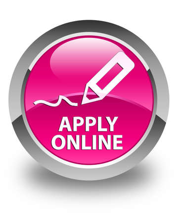 apply: Apply online (edit pen icon) glossy pink round button