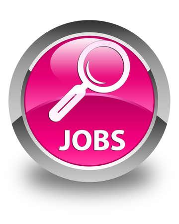 jobs: Jobs glossy pink round button