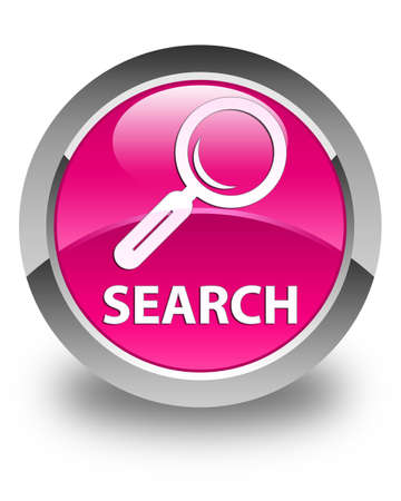 Search glossy pink round button