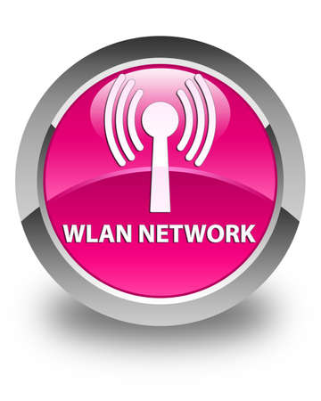 wlan: Wlan network glossy pink round button