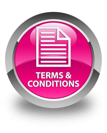 terms: Terms and conditions (page icon) glossy pink round button