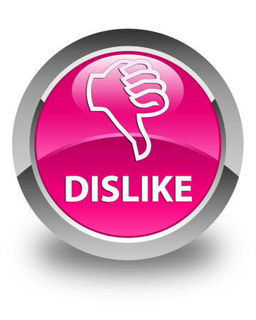 disapprove: Dislike glossy pink round button