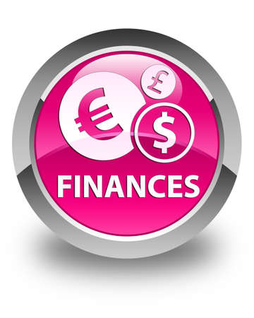 euro sign: Finances (euro sign) glossy pink round button Stock Photo