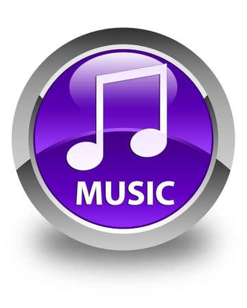 tune: Music (tune icon) glossy purple round button