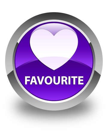 the favourite: Favourite (heart icon) glossy purple round button