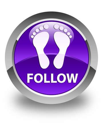familiar: Follow (footprint icon) glossy purple round button