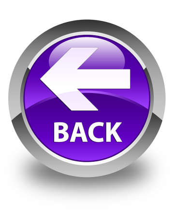 round back: Back glossy purple round button