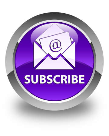 flysheet: Subscribe (newsletter email icon) glossy purple round button