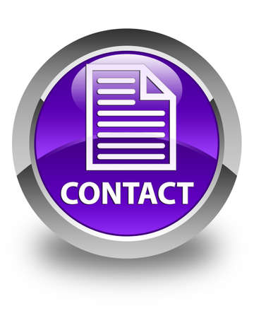 contact page: Contact (page icon) glossy purple round button