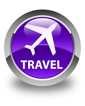 airway: Travel (plane icon) glossy purple round button