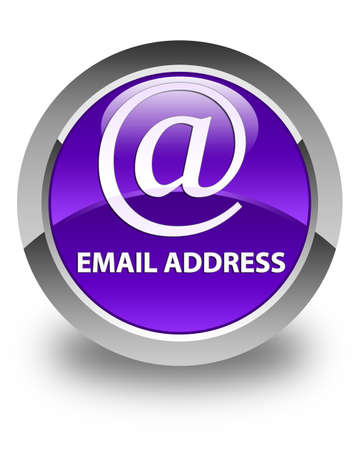 email address: Email address glossy purple round button