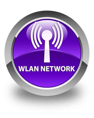 crossover: Wlan network glossy purple round button