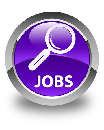 jobs: Jobs glossy purple round button