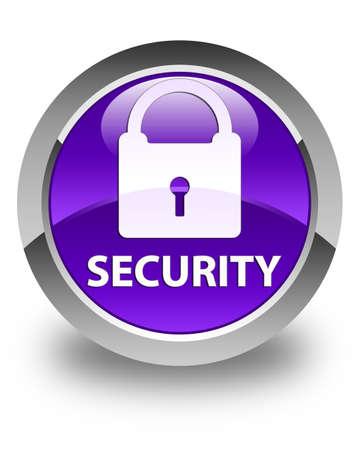 key hole shape: Security (padlock icon) glossy purple round button