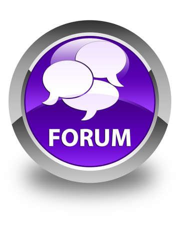menace: Forum (comments icon) glossy purple round button