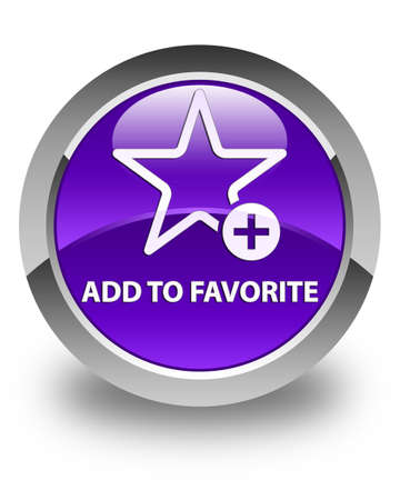 value add: Add to favorite glossy purple round button