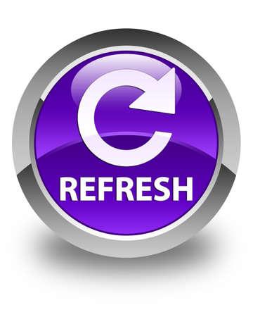 rotate: Refresh (rotate arrow icon) glossy purple round button