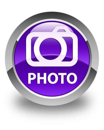 photo slide: Photo (camera icon) glossy purple round button